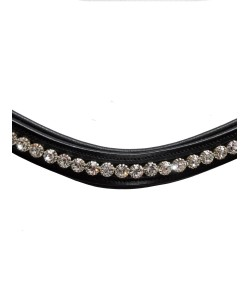 "PLR Equitation Dressage Browband ""White"" - Cob"