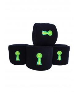 PLR Top Lux Polo Bandages - Black Fleece