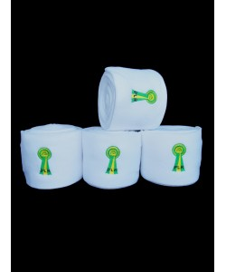 PLR Top Lux Polo Bandages - White Fleece