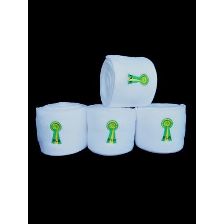 PLR Top Lux Polo Bandages - White Fleece