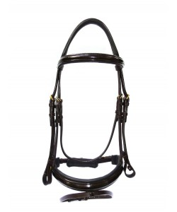 PLR Varnished Anatomic Bridle - Brown Standard Leather