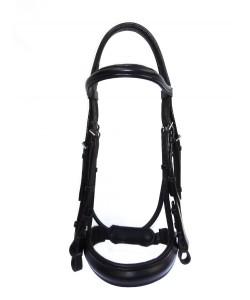 PLR Double Bridle - Black English Leather