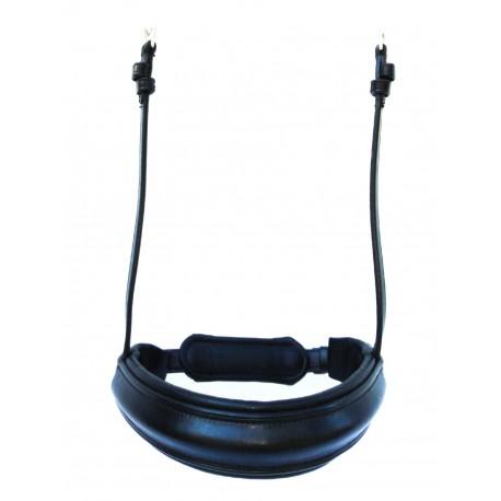PLR Double Bridle Noseband - English Leather