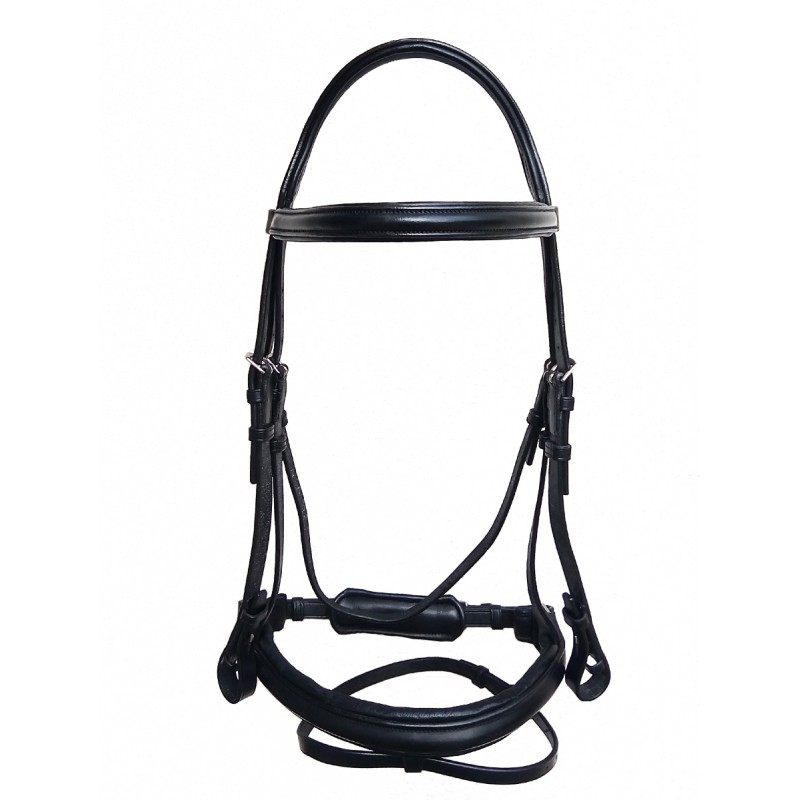 PLR Anatomic Bridle - Black Leather